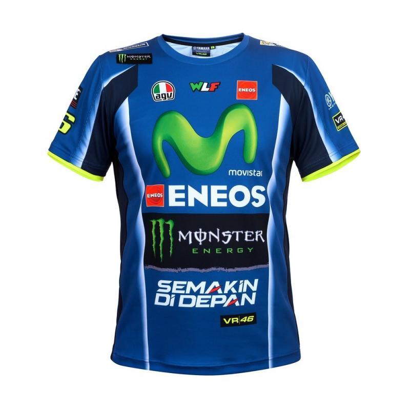 Tee shirt VR46 Valentino Rossi Yamaha Replica bleu 2017