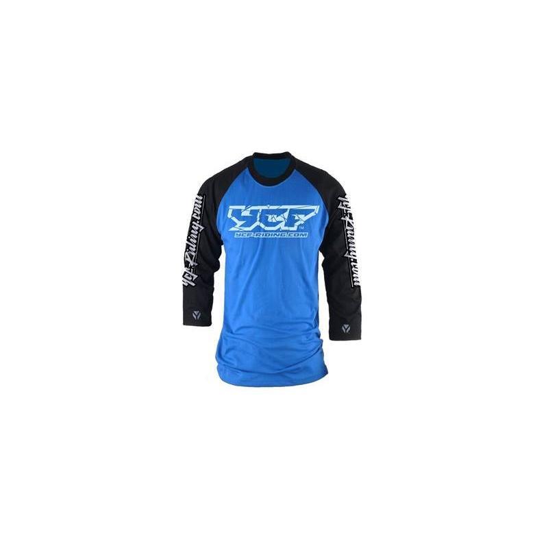 Tee-shirt YCF manches longues bleu/noir