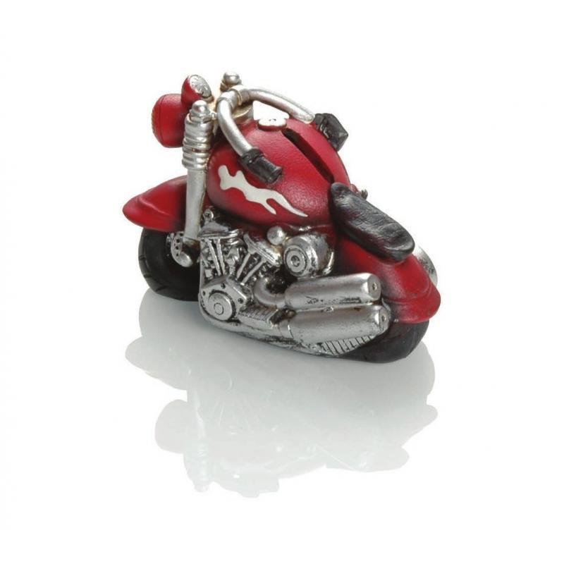 Tirelire Booster Motorbike 14cm rouge