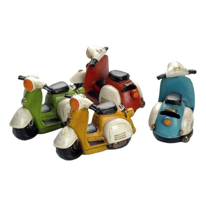 Tirelire Booster Scooter 14cm rouge