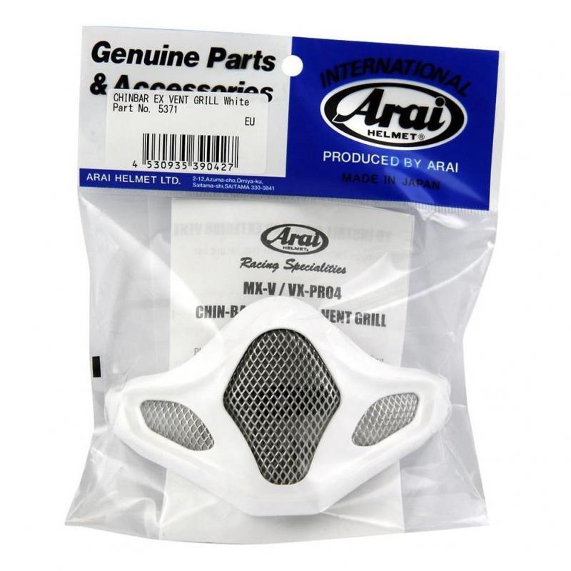 Ventilation de mentonnière Arai pour casque MX V blanc