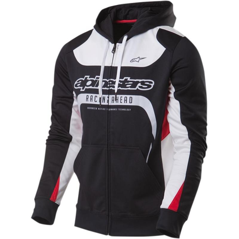 Veste à capuche zippée Alpinestars SESSION noir