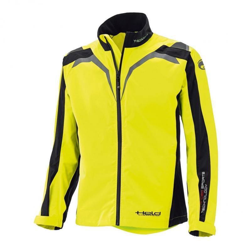 Veste de pluie Held Rainblock Top noir/jaune fluo