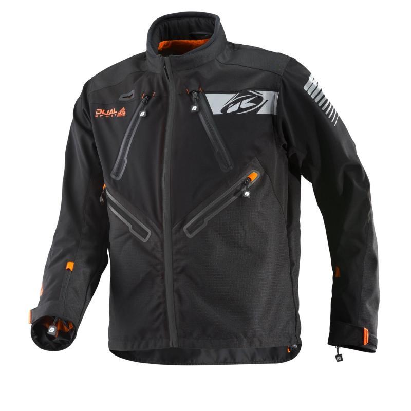 Veste enduro Kenny Dual Sport noir/orange