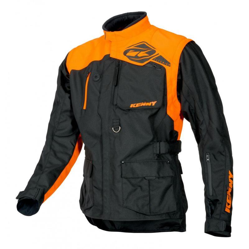 Veste enduro textile Kenny Titanium orange/noir