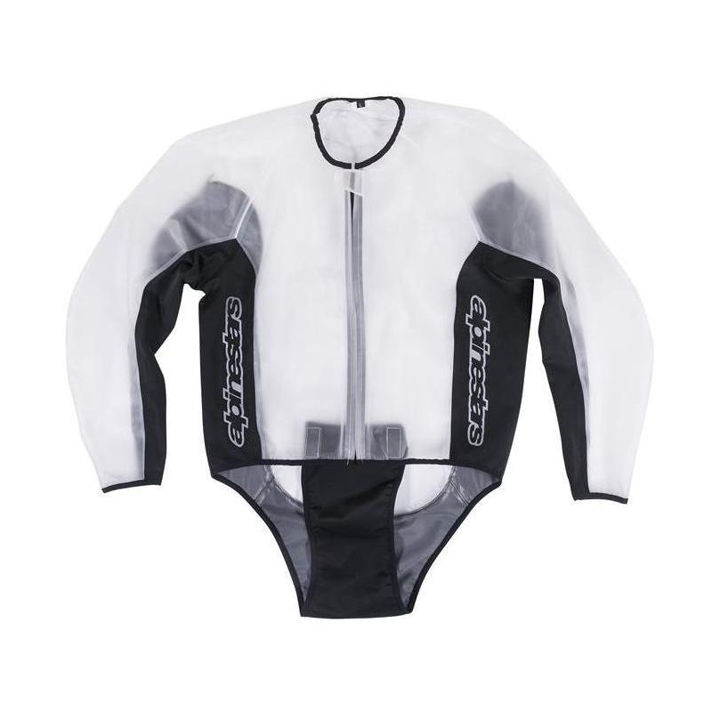 Veste imperméable Alpinestars Racing Rain transparent/noir