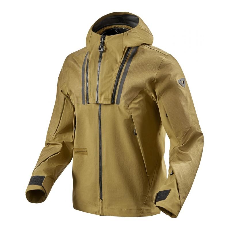 Veste textile à capuche Rev'it Element ocre jaune