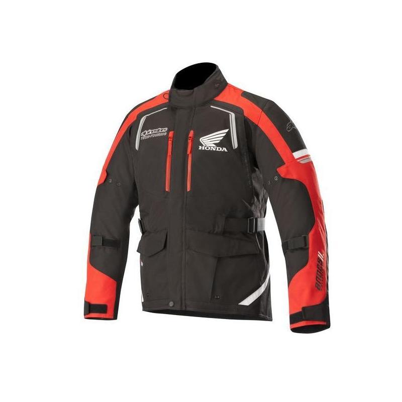 Veste textile Alpinestars Andes V2 Drystar Édition Honda noir/rouge