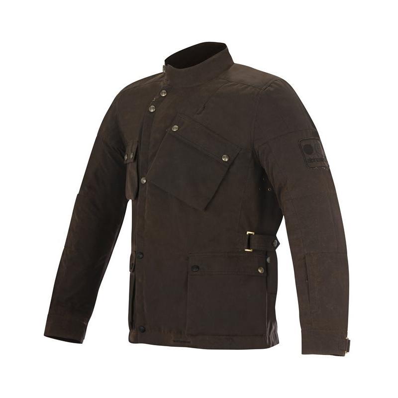 Veste textile Alpinestars OSCAR ENDURO marron