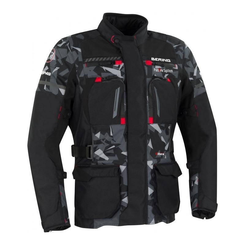 Veste textile Bering Boston noir/camouflage