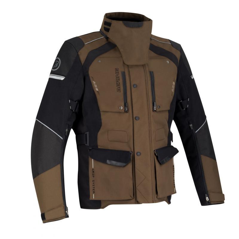 Veste textile Bering Bronco noir/maron