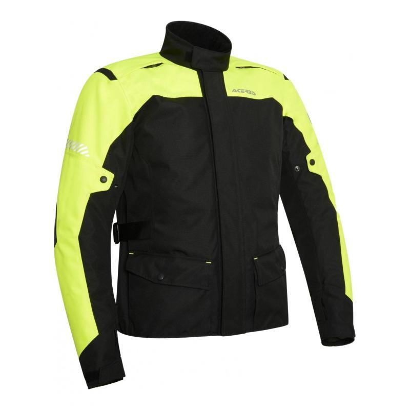 Veste textile CE Acerbis Discovery Forest noir/jaune