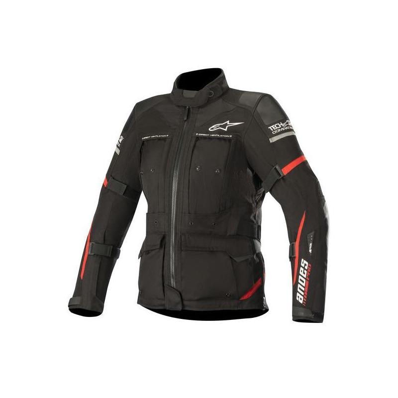 Veste textile femme Alpinestars Stella Andes Pro Drystar Tech-Air noir/rouge