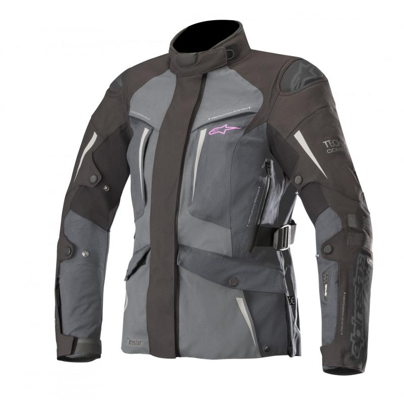 Veste textile femme Alpinestars Stella Yaguara Drystar Tech-Air compatible noir/gris/gris foncé