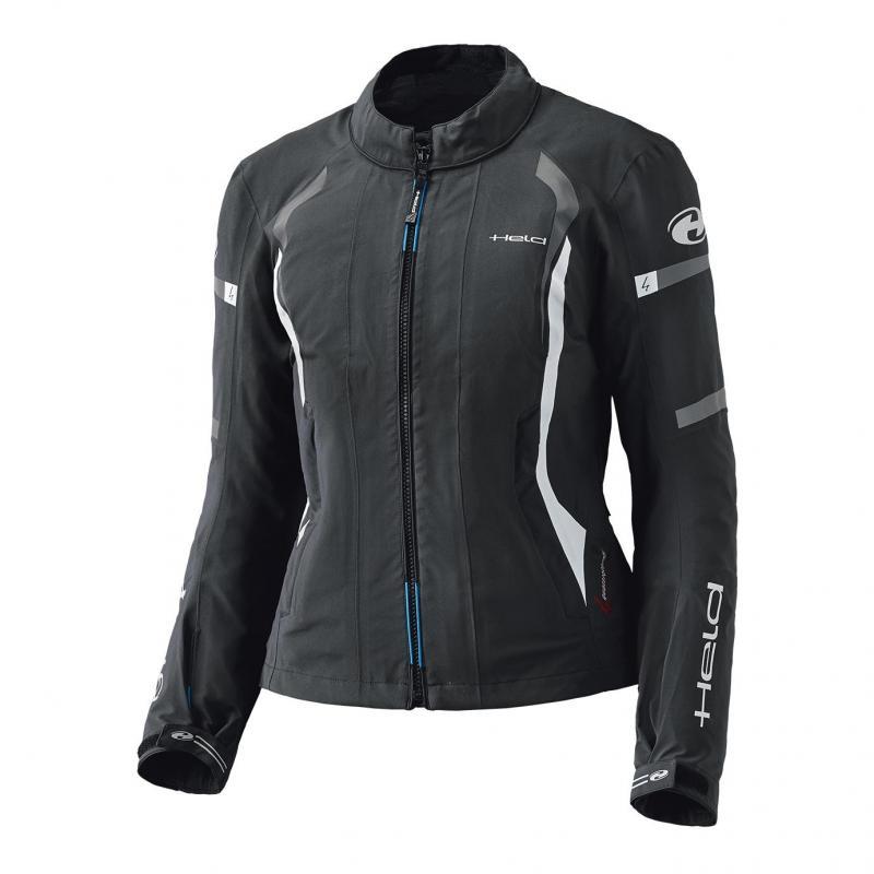 Veste textile femme Held Clip-in GTX Top noir/blanc