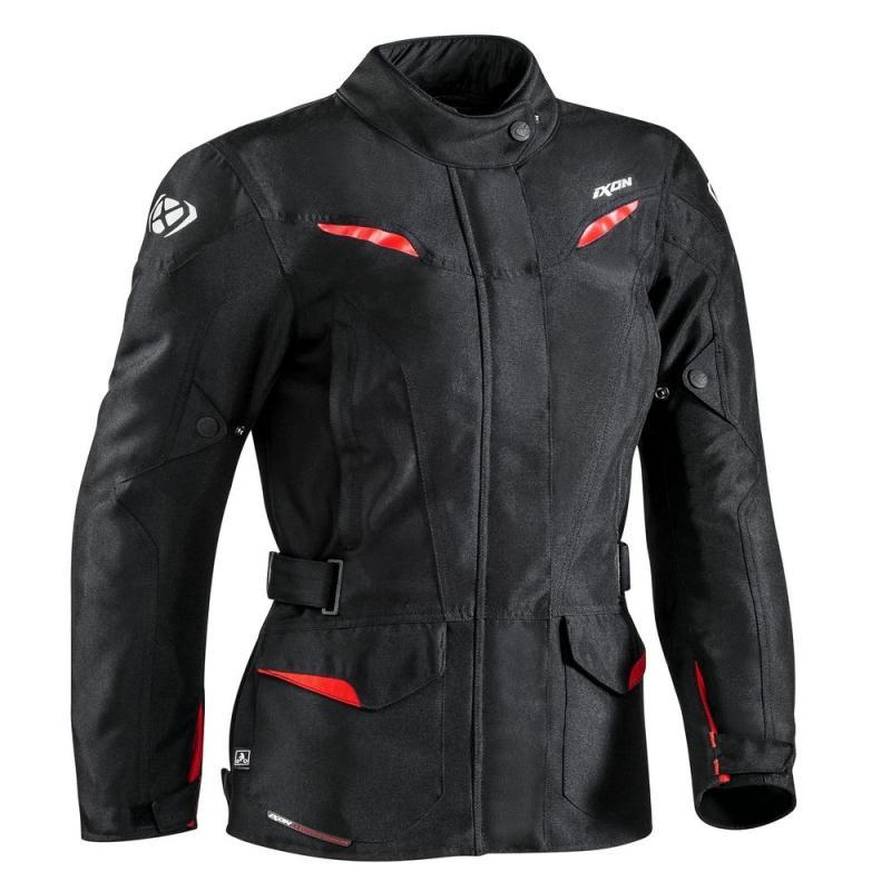 Veste textile femme Ixon SUMMIT 2 LADY noir/rouge