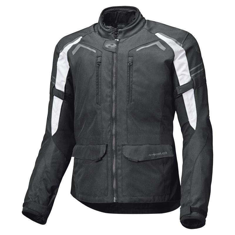Veste textile Held Kane noir/blanc