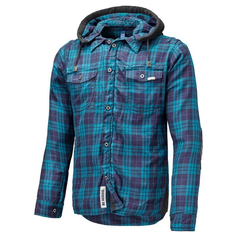 Veste textile Held Lumberjack carreaux bleu