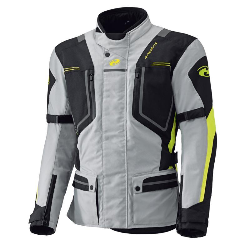 Veste textile Held Zorro gris/fluorescent-jaune