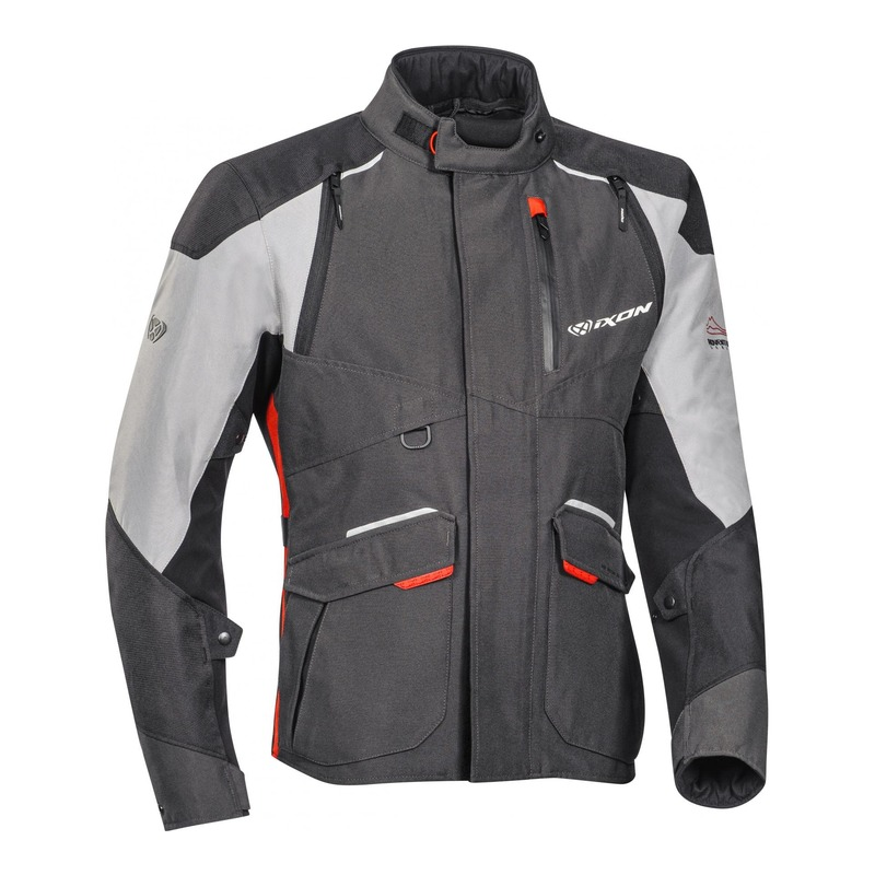Veste textile Ixon Balder noir/gris/rouge