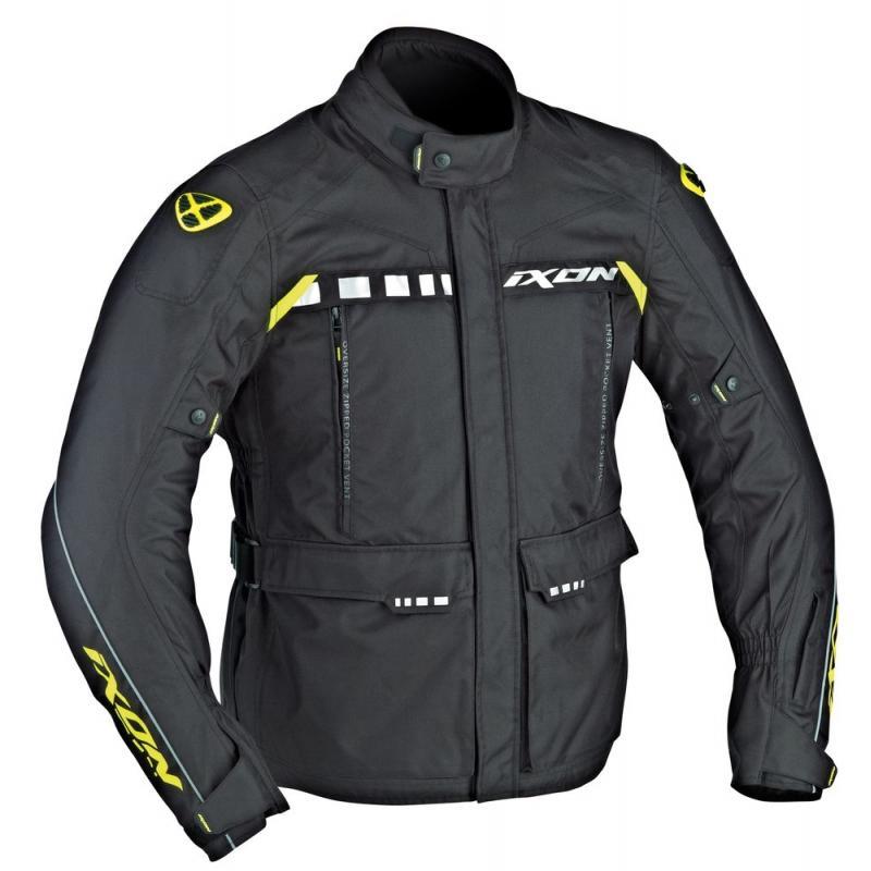 Veste textile Ixon CORSICA noir/jaune vif