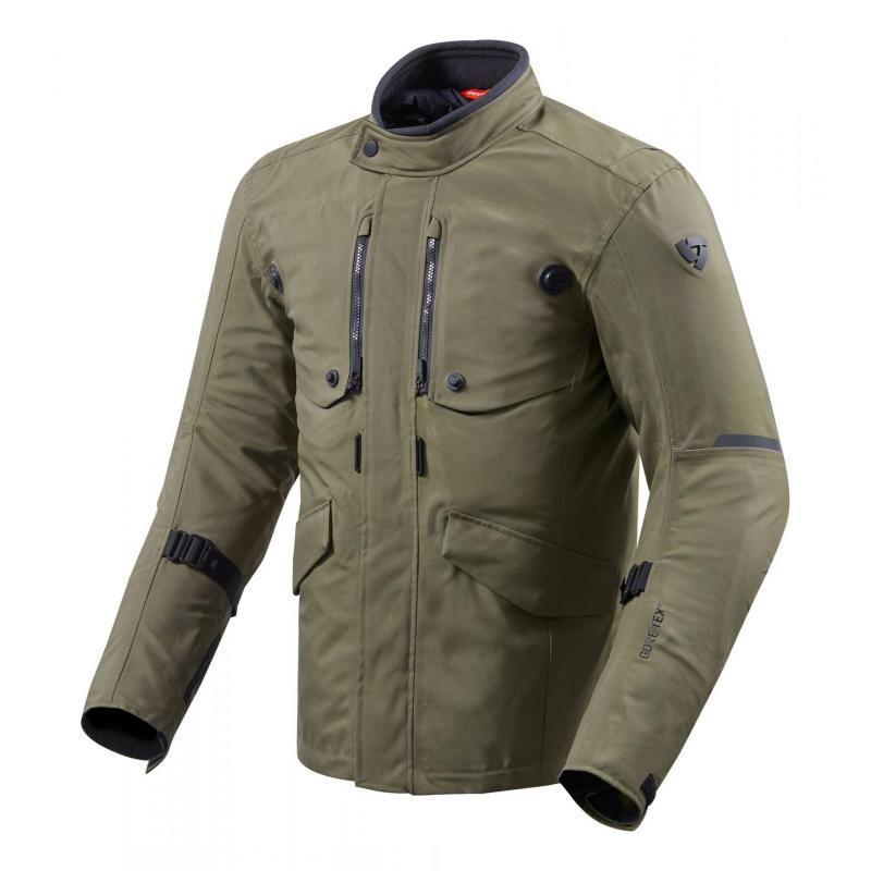Veste textile Rev'it Trench Gore-Tex vert foncé