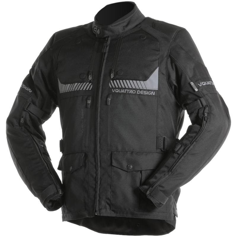 Veste textile V'Quattro Hurricane noir