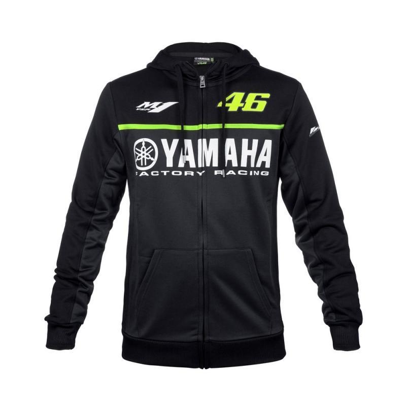Veste zip VR46 Valentino Rossi Yamaha noir 2017