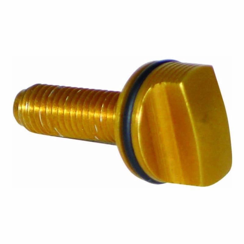 Vis de réglage pour fourche Doppler anodisé or
