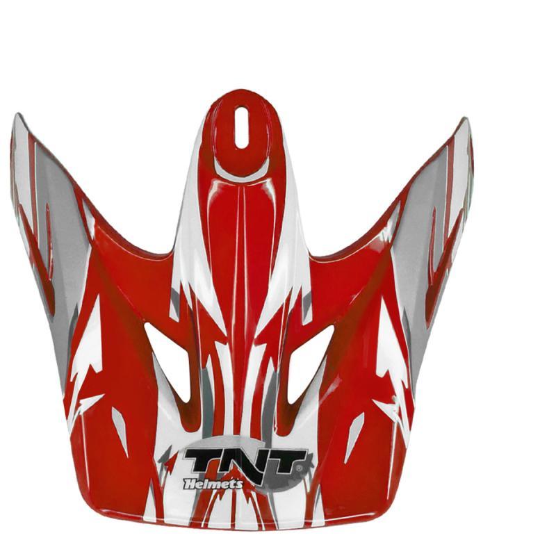 Visière blanche/rouge pour casque TNT helmets viper3 sc05