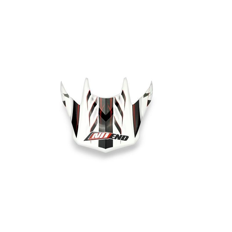 Visière casque cross Noend Defcon 5 blanc/rouge