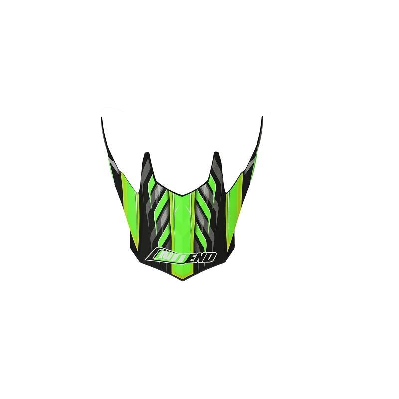 Visière casque cross Noend Defcon 5 noir/vert mat