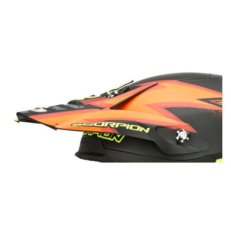 Visière casque cross Scorpion VX 20 AIR Magnus Noir Mat/Orange fluo/Jaune fluo