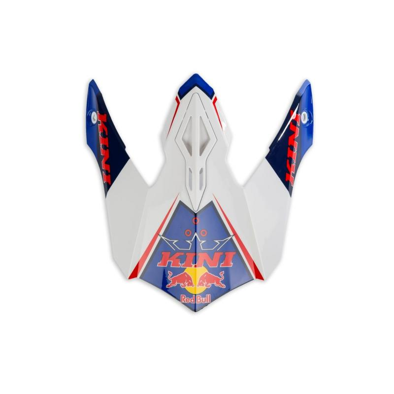 Visière de casque cross Kini Red Bull Competition bleu marine/blanc