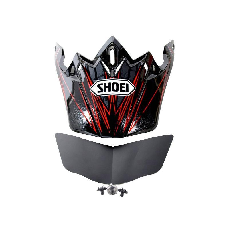 Visière de casque Shoei VFX-W Crosshar TC1 noir/rouge