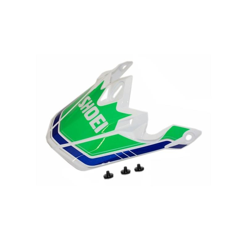 Visière de casque Shoei VFX-W Damont TC4 vert/bleu/blanc