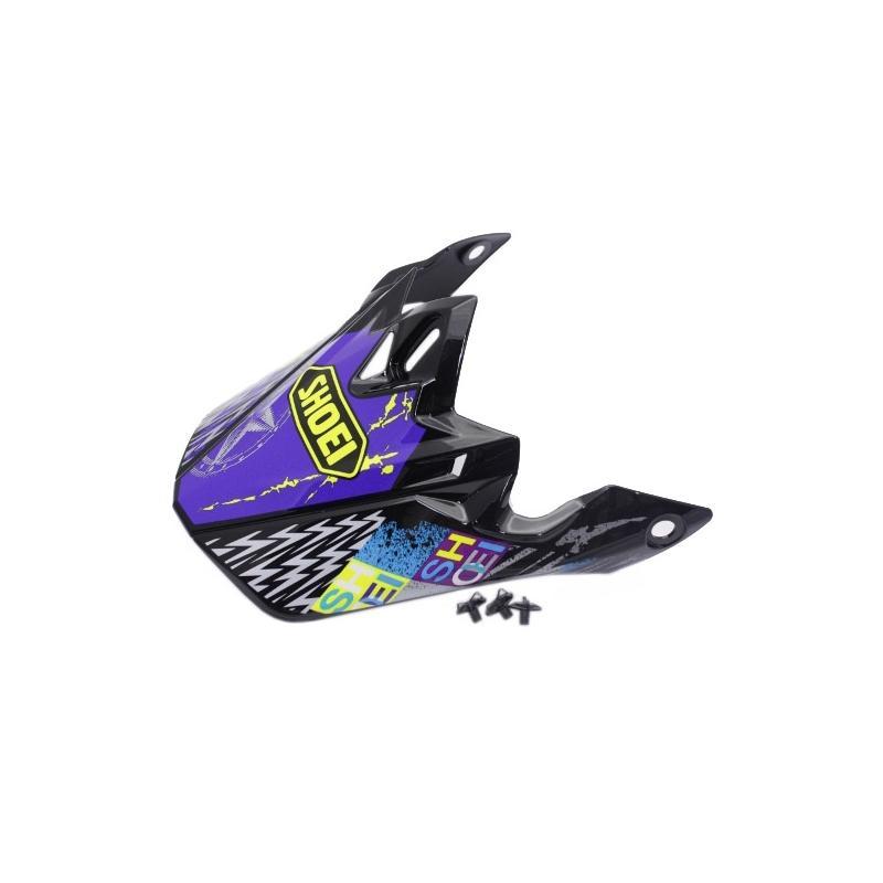 Visière de casque Shoei VFX-W Krack TC11 violet/jaune/noir