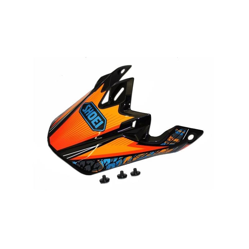 Visière de casque Shoei VFX-W Maelstrom TC8 bleu/orange/noir