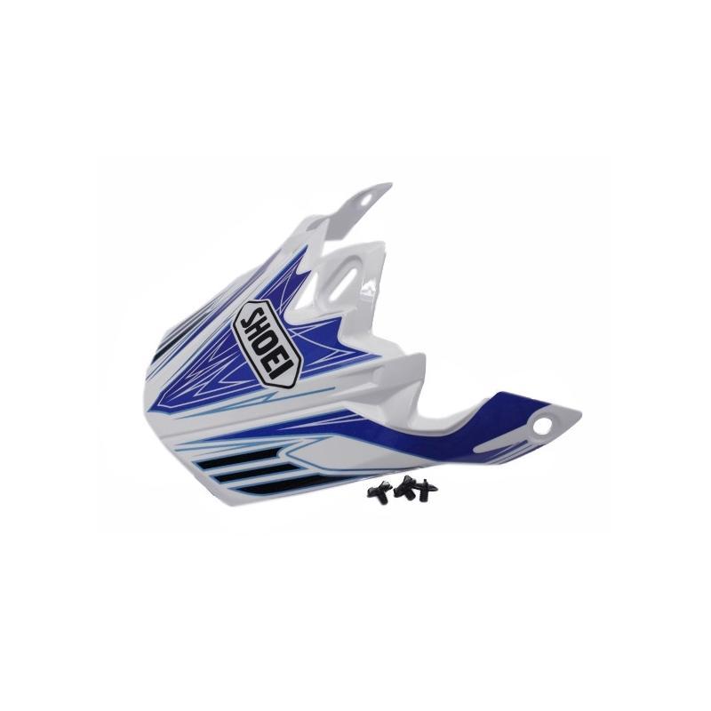 Visière de casque Shoei VFX-W Werx TC2 blanc/bleu