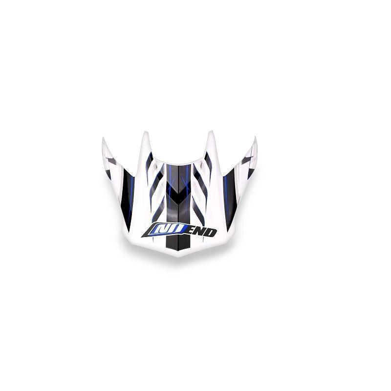 Visière pour casque cross Noend Defcon 5 blanc/bleu