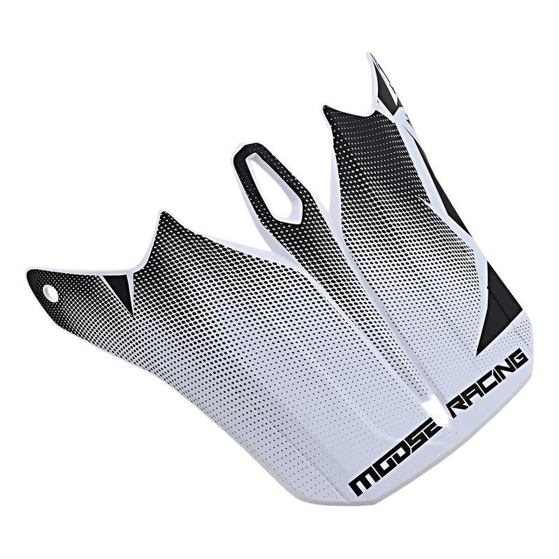 Visière pour casque Moose Racing Agroid noir/blanc