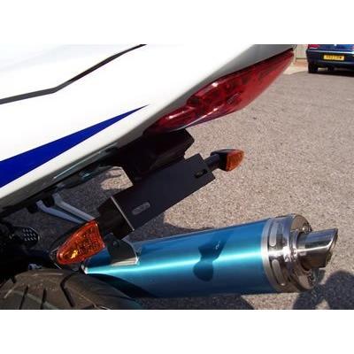 Support de plaque d'immatriculation R&G Racing noir Suzuki GSX-R 600 04-05