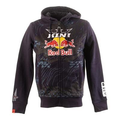 Sweat à capuche zippé Kini Red Bull Topography bleu nuit