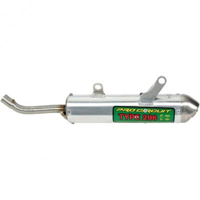 Silencieux Pro Circuit Type 296 finition aluminium pour Yamaha YZ 125 02-16