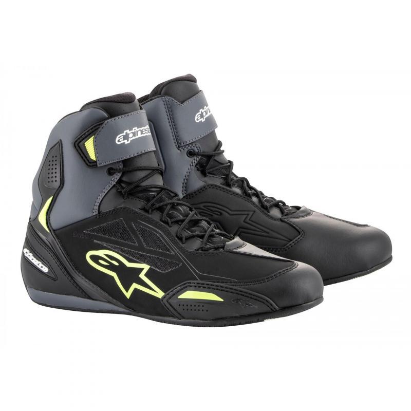 Chaussures moto Alpinestars Faster 3 Drystar noir/gris/jaune fluo