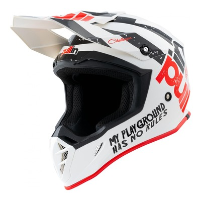 Casque cross Pull-in Trash blanc/noir/rouge