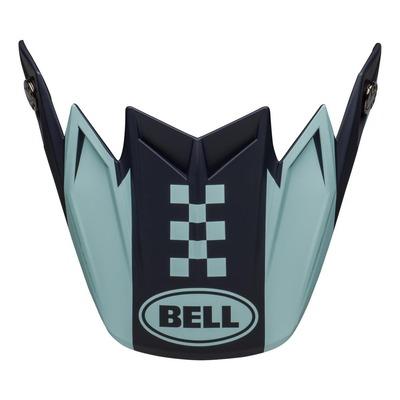 Casquette de casque cross Bell Moto-9 Flex Breakaway navy/light bleu mat