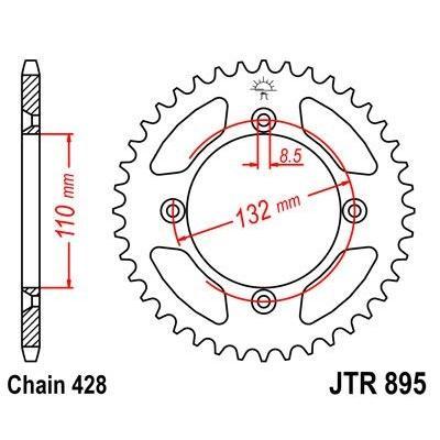Couronne JT Sprockets Acier pas 428 46 dents - Pour KTM SX 85 04-21