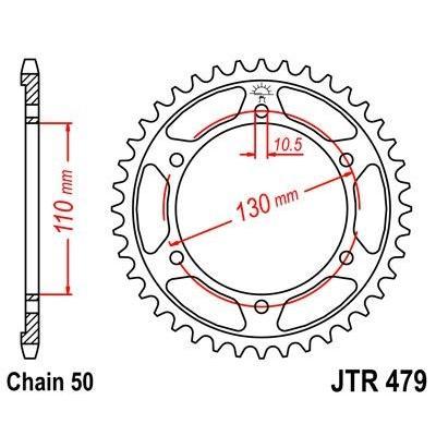 Couronne JT Sprockets Acier pas 530 44 dents - Pour Yamaha FZS 1000 01-05