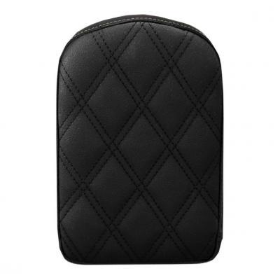 Coussin de sissybar Saddlemen rectangulaire noir coutures losange